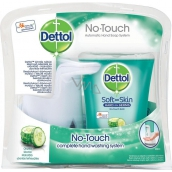 Dettol Freshness Cucumbers non-contact soap dispenser, machine + antibacterial refill with soap 250 ml