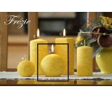 Lima Marble Freesia scented candle yellow ball diameter 80 mm 1 piece