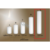 Lima Gastro smooth candle white cylinder 60 x 300 mm 1 piece