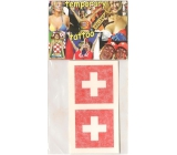 Arch Tattoo decals for face and body Switzerland flag 2 motifs