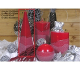 Lima Artic Candle Red Pyramid 75 x 250 mm 1 piece
