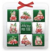 Nekupto Christmas chocolate puzzle, Cars 9 x 5 g, 11 x 11,5 x 0,7 cm