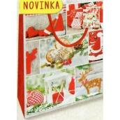 Nekupto Gift paper bag medium 23 x 18 x 10 cm Christmas 1804 30 WBM