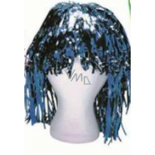 Metallic wig alu short blue