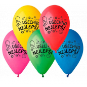 "Balloons ""Happy Birthday"", 26 cm, 10 pieces in a package, mix of colors"