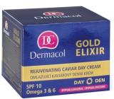Dermacol Gold Elixir SPF10 Omlazující kaviárový denní krém 50 ml