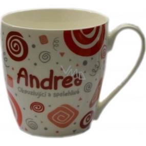 Nekupto Twister mug named Andrea red 0.4 liter