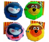 Magnum Vinyl Ball with face whistling toy 7 cm