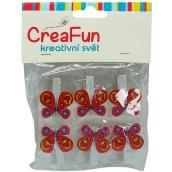 CreaFun Butterfly peg 6 pieces
