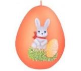 Bunny II. easter candle metal mat orange egg 60 mm