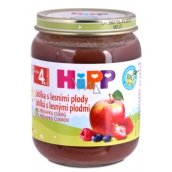 Hipp Fruit Organic Apples with berries fruit side dish, reduced lactose content and without added sugar for children 125 g