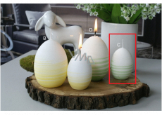 Lima Aromatic spiral Lily of the valley candle green egg small 40 x 60 mm 1 piece