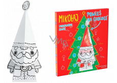 Ditipo 3D cardboard jigsaw puzzle for painting Santa 15 cm
