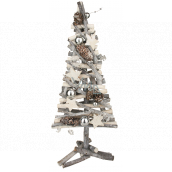 Christmas wicker tree entwined from twigs silver 40 cm