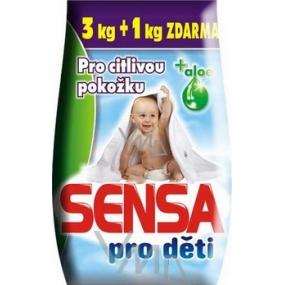 Sensa Aloe Vera for sensitive skin washing powder for children 3 + 1 kg