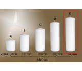 Lima Gastro plain candle white cylinder 80 x 300 mm 1 piece