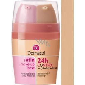 Dermacol Satin Make-up Base & 24h Control 2in1 make-up base and make-up 04 2x15 ml