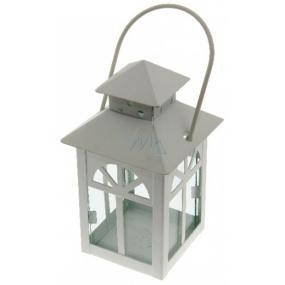 Metal lantern Windows white 135 mm