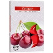 Bispol Aura Cherry - Cherry Scented Tea Candles 6 pieces