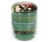Heart & Home Vůně vánočního stromečku Sojová vonná svíčka střední hoří až 30 hodin 110 g