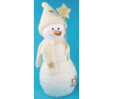 Snowman with gold accessories for standing 23 cm No.1
