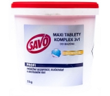 Savo 3v1 Maxi Complex Chlorine tablets for pool disinfection 5 kg