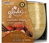 Glade by Brise Nut Delight - Roasted nuts and sweet pralines scented candle in glass burning time up to 30 hours 120 g