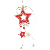 Felt star red and white for hanging 22 cm