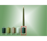 Lima Candle smooth metal green matt cone 22 x 250 mm