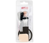 Titania Powder Brush + Lipstick Brush + Eyeshadow Brush + Eyeshadow Applicator + Mirror, Cosmetic Set
