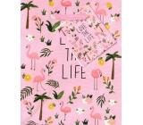 Nekupto Gift Paper Bag Small 14 x 11 x 6.5 cm Love The Life 1734 30 KFS