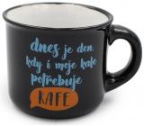Nekupto Mini mug Today is a day when my coffee also needs coffee 80 ml 007