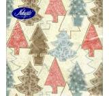 Nekupto Paper napkins 3 ply 33 x 33 cm 20 pieces Christmas beige - various trees