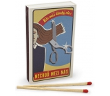 Nekupto Original matches in retro style Who has long hair do not go among us 45 pieces