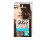 Schwarzkopf Gliss Color hair color 4-68 Dark mahogany 2 x 60 ml