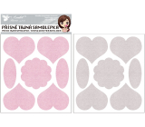 Top secret scratching sticker with hearts 15 x 21 cm, 2 sheets