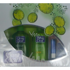 Clean & Clear cleansing emulsion 200 ml + lotion 200 ml + lip balm 4.9 g, cosmetic set