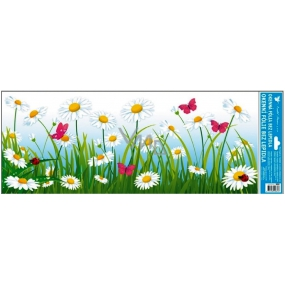 Room Decor Window foil without glue meadow daisies stripe 60 x 22, 5 cm