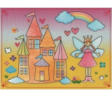 Magic water painting with brush Princess with castle 20 x 15 cm