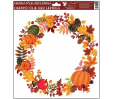 Room Decor Window film without adhesive Autumn Wreath No. 2 30 x 30 cm