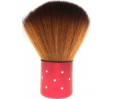 Cosmetic brush for powder red handle 7 cm 30450