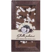 Bohemia Gifts & Cosmetics Sladké pokušení Kokos Ručně vyráběná mléčná, hořká čokoláda 80 g