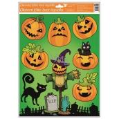Window Films with Glitter 42x30 cm, Halloween Pumpkin 967 6490