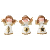 Angel in white knitted dress for standing 8 cm 1 piece