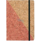 Albi Cork block lined Rose Gold 80 pages 14,7 x 21 x 1,5 cm