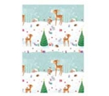 Ditipo Christmas wrapping paper for children roe deer with tree 100 x 70 cm 2 pieces