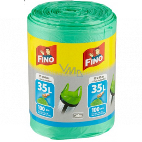 Fino Color Trash bags with handles green 35 liters 49 x 60 cm 13 µ 100 pieces