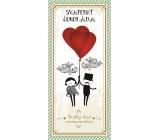 Bohemia Gifts & Cosmetics Svatba Mléčná svatební čokoláda 100 g