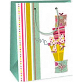 Ditipo Gift paper bag 18 x 10 x 22.7 cm white gifts bows