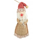 Santa made of jute for hanging 13 cm